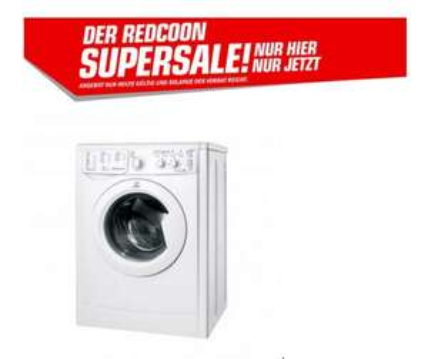 Redcoon Supersale Indesit 51051X9 Waschmaschine für nur 189,- billigste Maschine im Netz !