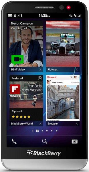 Blackberry Z30 - 5'' / 2 GB RAM / 16 GB Flash (erweiterbar) / 1280 x 720 px AMOLED / 2880 mAh Akku / LTE für 263 €
