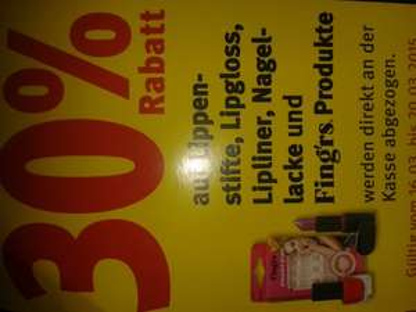 rossmann ( BUNDESWEIT ) 30% auf Lippenstifte, Lipgloss,Lipliner,Nagellacke und Fing'rs Produkte
