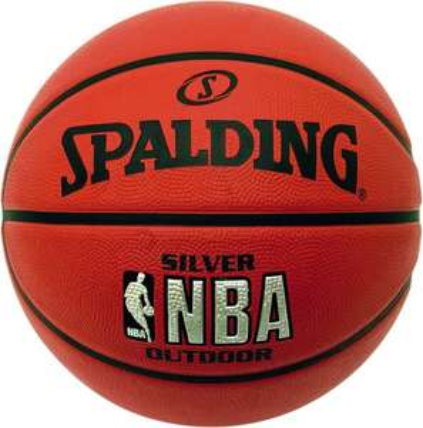 Spalding Herren Basketball NBA Silver Outdoor, Orange