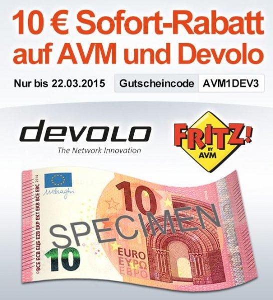 10 € Rabatt auf AVM oder Devolo Produkte MBW 60 / AVM C4 für 51.- € / @Digitalo
