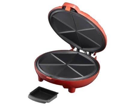 [Meinpaket OHA] Quesadilla-Maker, rot, Antihaftbeschichtung, 900 Watt, Inkl. Fettauffangschale für 18,90 EUR