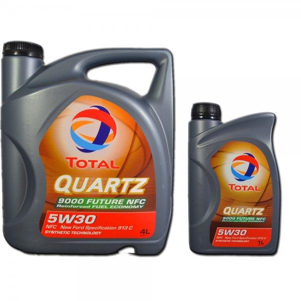 Total Quartz 5W30 9000 Future NFC  4+1 Liter Motoröl 19,89 inkl. Versand IDEALO: 23,85