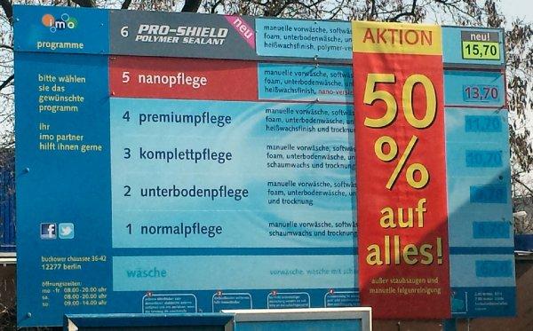 [Lokal, Berlin] Autowäsche für den halben Preis