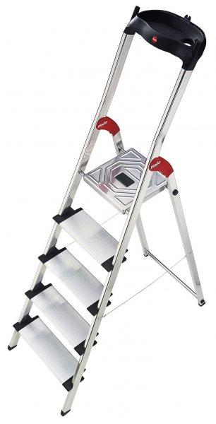 [ebay WOW] Hailo Aluminium Sicherheitsleiter Profistep XXL, 5 Stufen, Haushaltsleiter für 44,90 EUR