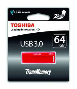 [Ebay-Cyberport] Toshiba TransMemory USB-Stick Red rot 64GB, USB 3.0, Lesen: 70 MB/s, Schreiben: 20 MB/s