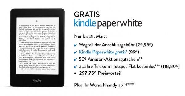 Telekom Magenta Mobil S + z. B. 380,00 EURO Smartphone + Kindle Paperwhite + Amazon 50,- Gutschein