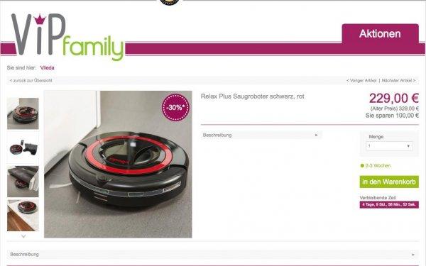 Vileda Relax Plus Saugroboter für 229€ bei VIP Family