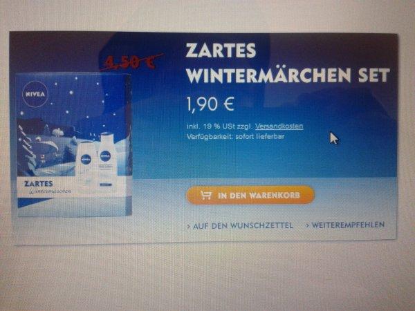 14 x Nivea Sets bestehend aus Duschcreme und Bodylotion, 1,33 €/ Set, Nivea-Shop möglich mit Newsletter-Gutschein 8€!