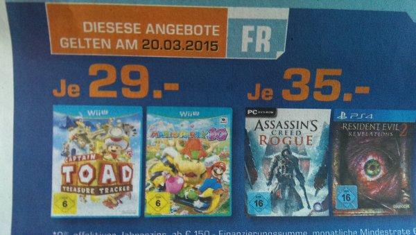 [LOKAL-Saturn Tübingen] - Mario Party 10 & Captain Toad Wii U für jeweils 29,-