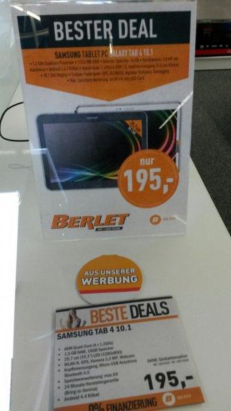 (lokal) Samsung Galaxy Tab 4 16GB - 195€ - Berlet