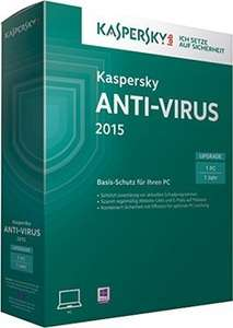 Kaspersky Anti-Virus 2015 - 3 PCs - 6 Monate - nur 5,50 Euro