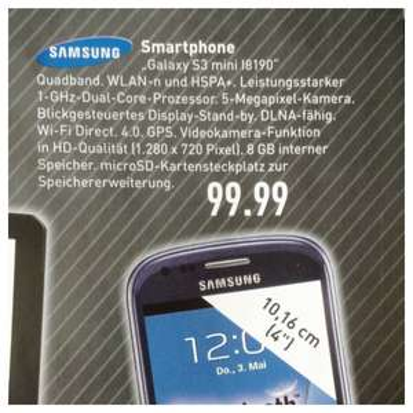 Samsung S3 mini I8190 MARKTKAUF