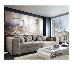 Delife Wohnlandschaft Sofa Couch XXL Big Sofa Hellgrau 300x140 cm, 788,66 EUR @ plus