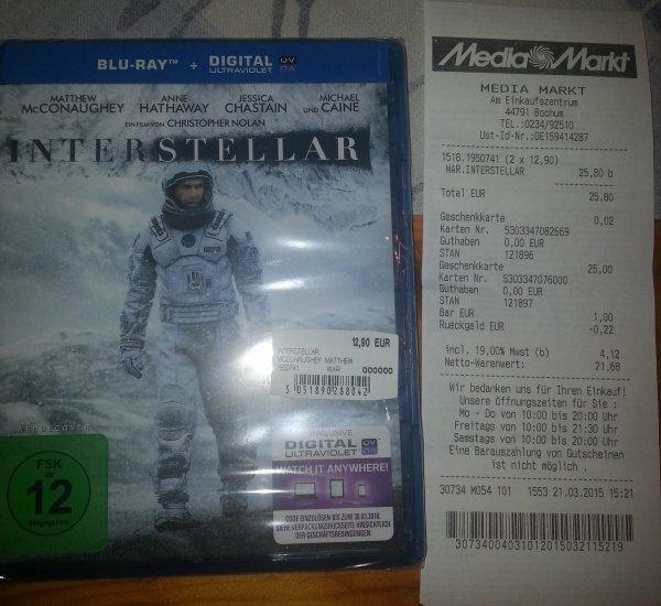 [Lokal] Interstellar BluRay/DVD [MM Bochum Ruhrpark]
