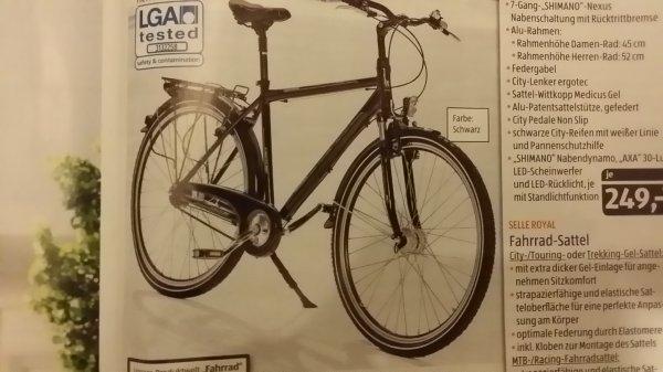 Alu City Bike Aldi Süd