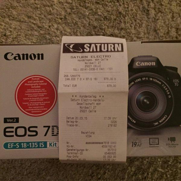 [Saturn Celle] Canon EOS 7D 18-135mm nur 879€