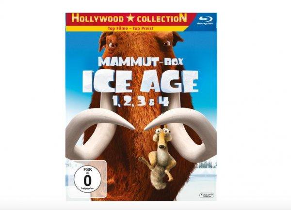 Ice Age 1-4 (Mammut Box) - (4 Blu-ray) für 16,99€ inkl. Versand @Saturn.de