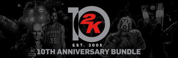 2K 10th Anniversary Bundle für 45.74,- statt 351.82,- @steam!