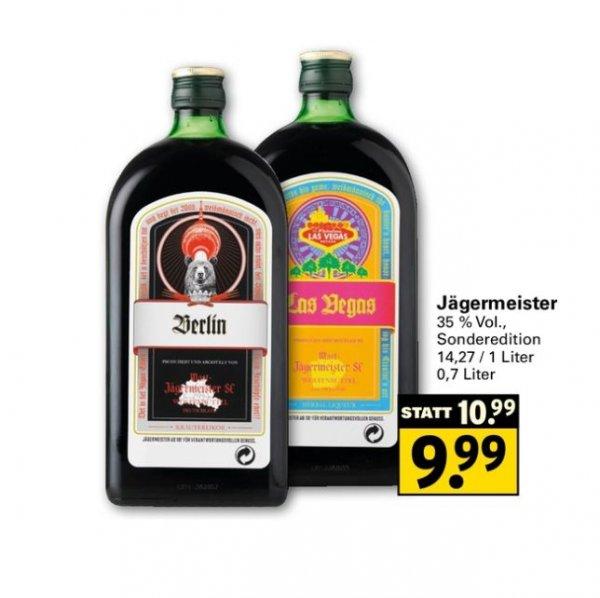 [NETTO MIT SCOTTI] Jägermeister 0,7l 35% Sondereditionen Berlin / Las Vegas uvm. für 9,99€