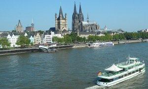 Köln: 2 Tickets - Panorama-Rundfahrt auf dem Rhein für 9,50 € @ Groupon + Qipu ( Termine 28 & 29.3)
