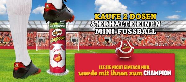 Mini-Fußball beim Kauf von zwei Dosen Pringles mit Zuzahlung von 2€