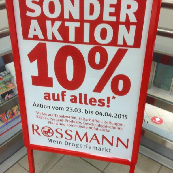 [Lokal?] Mönchengladbach - Rossmann Sonderaktion 10% auf alles!*