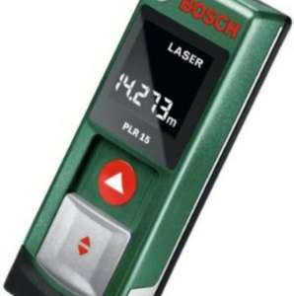 [Amazon] Bosch PLR 15 Laser-Entfernungsmesser + Bosch Powerbank Akkupack
