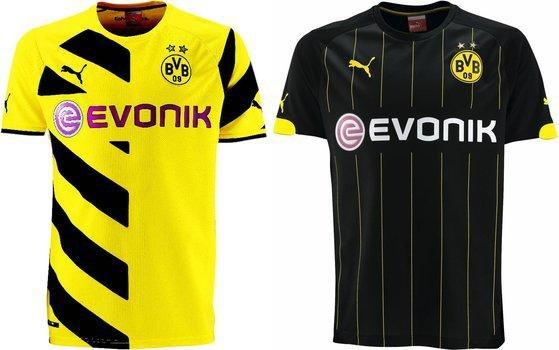 Aktuelle Heim- und Auswärts- BVB Trikots PUMA Herren Replica Gr. S–5XL 32,95€ (passende Shorts 14,95€) @Amazon