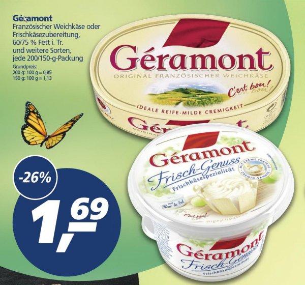 [REAL] Géramont Weichkäse 200/150 g - verschied. Sorten 1,69 EUR - (30.03.-04.04.)