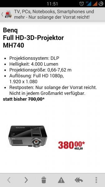 BenQ MH740 Full HD Beamer [Restposten Metro] fast 50% unter Idealo