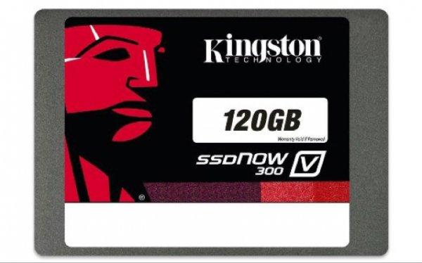 Kingston SSDNow V300 interne SSD-Festplatte 120GB (6,4 cm (2,5 Zoll), SATA III) schwarz