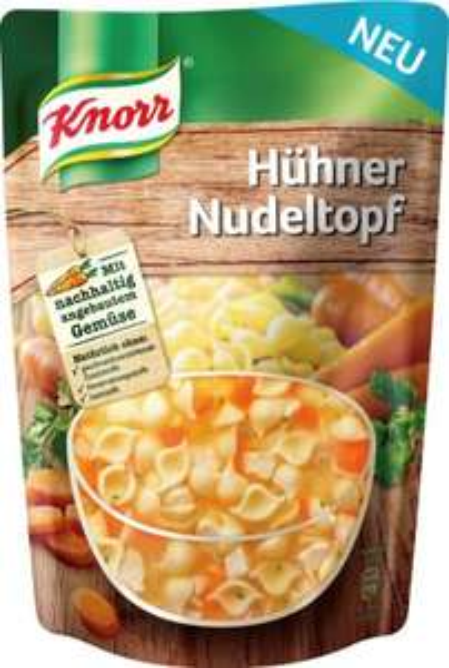 Knorr Hühner Nudeltopf 6er Pack (6 x 390 g) kostenlos @ Amazon Prime - Schnell sein!