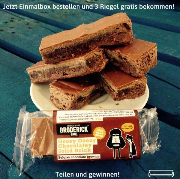 [MyCouchbox]3 Brodericks Brownie Riegel GRATIS zu jeder Bestellung einer März Einmalbox bei MyCouchbox