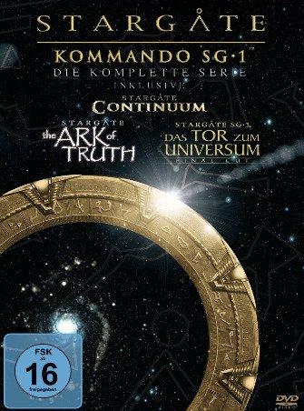 [Amazon] Stargate Kommando SG-1 - Die komplette Serie inkl. Continuum, The Ark of Truth & Bonus-DVD (61 DVDs) für 47,97€ incl.Versand!