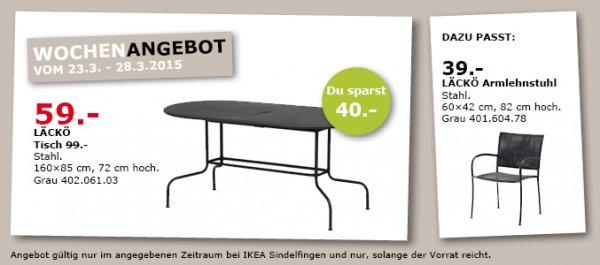 [LOKAL] LÄCKÖ Tisch für 59€ statt 99€ bei IKEA Sindelfingen