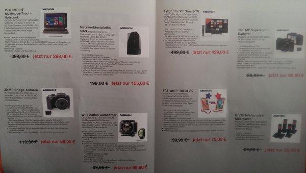[LOKAL Gladbeck] Aldi Nord Sonderverkauf 28.03.2015 diverse Medion-Elektronikartikel