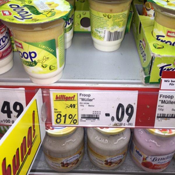 Kaufland Hamm: Froop Quitte für 0,09 Euro