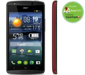 "Acer Liquid E700 Triple Sim Rot - 5"" HD IPS Display, 1,3GHz QuadCore, 2GB Ram, 8 MP Kamera, Android 4.4 für 154€ @Pixmania"