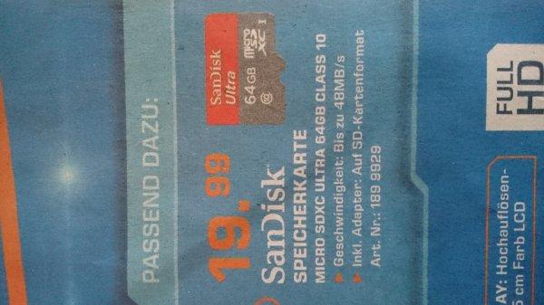 [Nürnberg Saturn] SanDisk micro sdxc ultra 64 GB Class 10