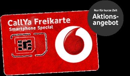 Vodafone CallYa Tarif für 9,99 [500mb LTE + 200 Einheiten SMS oder Telefon + Vodafone Flat]