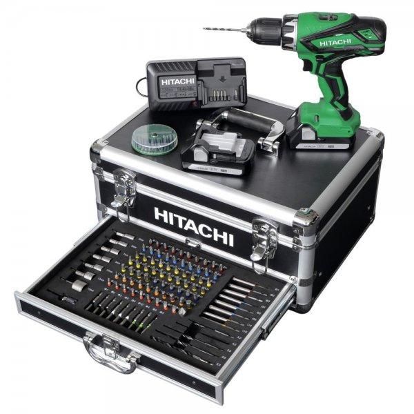 """[ZackZack] Hitachi Akkubohrschrauber-Set + Koffer + 100tlg.-Bit-Set """"DS 18DJL"""" für 180€ = 18% Ersparnis *** als """"Akku-Schlagbohrschrauber"""" für 199,90€ = 25% Ersparnis"""