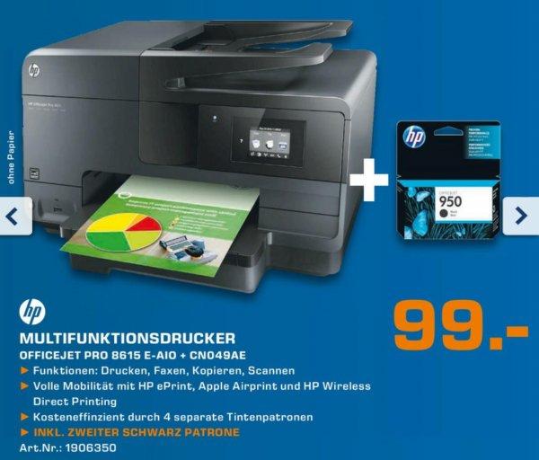 [LOKAL Mönchengladbach] HP Officejet Pro 8615 inkl. 2ter Schwarpatrone für 99€ Saturn Neueröffnung (69€ mit HP Trade In)