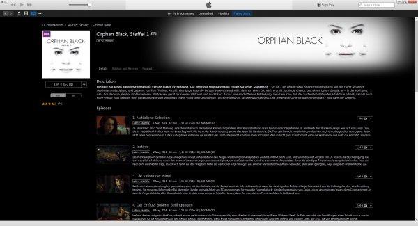 Orphan Black komplette 1. Staffel für 4,99€ + 1. Folge gratis bei iTunes