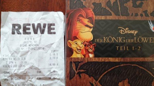 [offline] König der Löwen 1 + 2 Pack (DVD) @ REWE