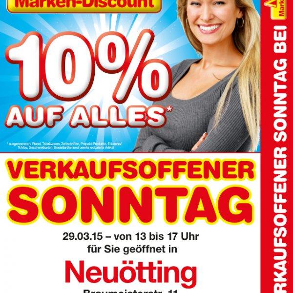 10% auf Alles (Netto Neuötting) verkaufsoffener Sonntag