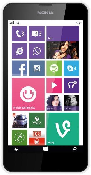 Nokia Lumia 630 Dual-SIM Smartphone (11,4 cm (4,5 Zoll) Touchscreen, 5 Megapixel Kamera, 1,2GHz Quad-Core, Windows Phone 8.1) weiß inkl. Vsk für 93,43 € > [amazon.it]