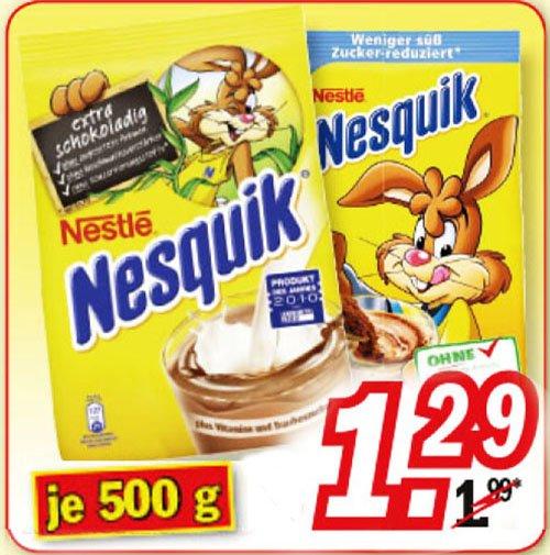 Nesquik Original u. zuckerreduziert zum Bestpreis 1,29€ ab 30.3 bei[Zimmermann]
