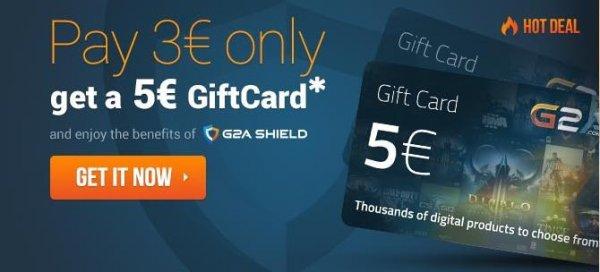 G2A.com Paypal Sale - 5€ Guthaben für 3€ (Ersparnis von 40%)