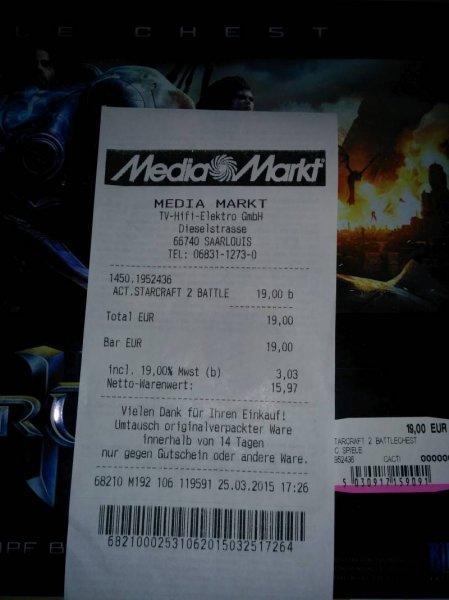 Starcraft 2 Battle Chest MM Saarlouis für 19.- Euro